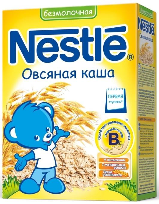 """""""Нестле"""" каша безмолочная овсяная (без сахара, с мальтодекстрином, с бифидобактериями) 200,0"""