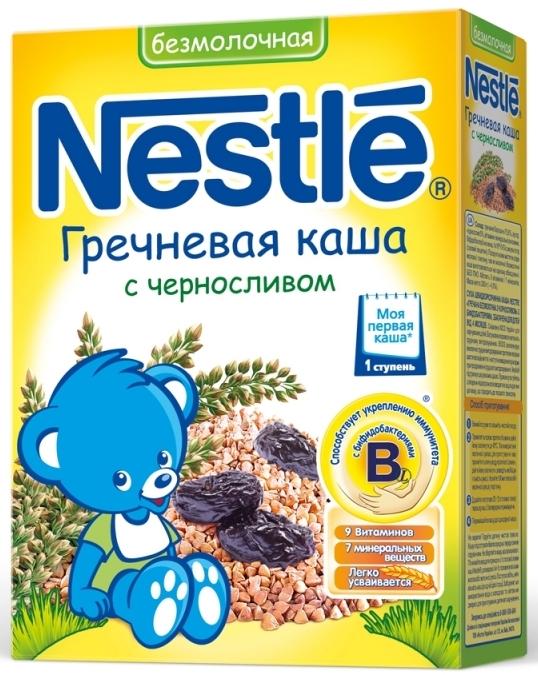 """""""Нестле"""" каша безмолочная гречневая с черносливом (с бифидобактериями) 200,0"""