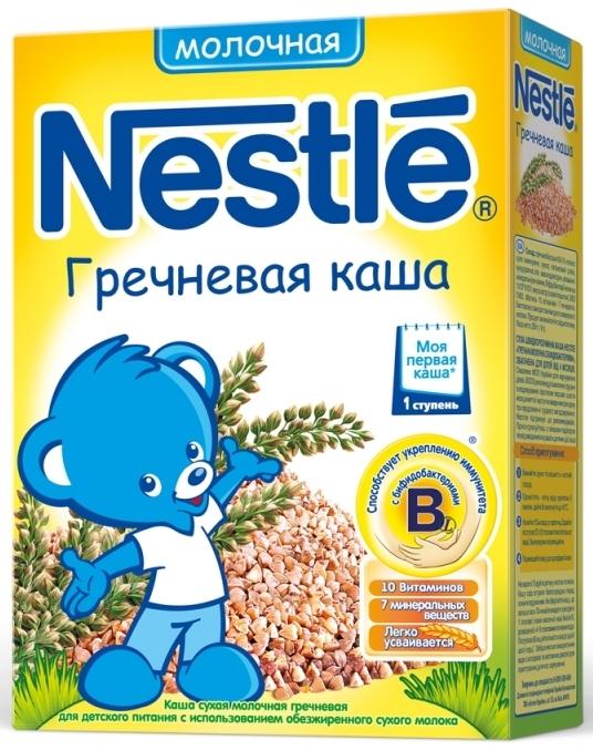 """""""Нестле"""" каша молочная гречневая (с сахаром, с мальтодекстрином, с бифидобактериями) 250,0"""