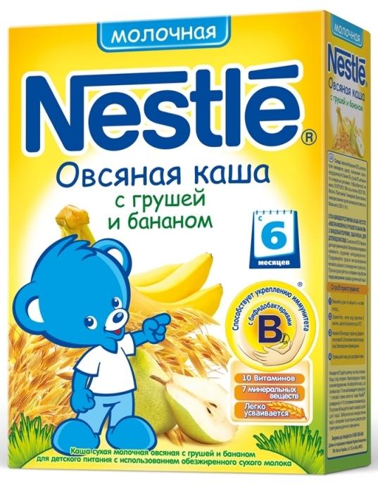 """""""Нестле"""" каша молочная """"Овсяная с грушей и бананом"""" (с сахаром, с бифидобактериями) 250,0"""