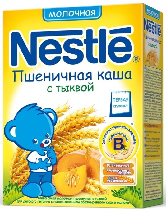 """Нестле"" каша молочная ""Пшеничная с тыквой"" (с сахаром, с бифидобактериями) 250,0"