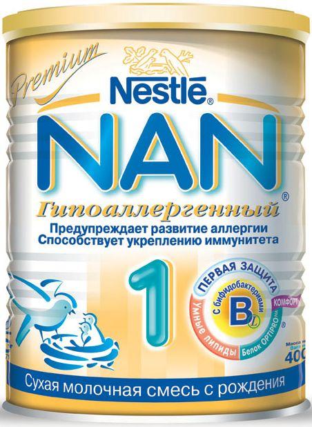"""Молочная смесь НАН """"NAN Гипоаллергенный 1"""" 400,0"""