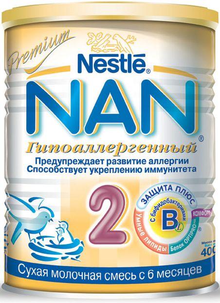 """Молочная смесь НАН """"NAN Гипоаллергенный 2"""" 400,0"""