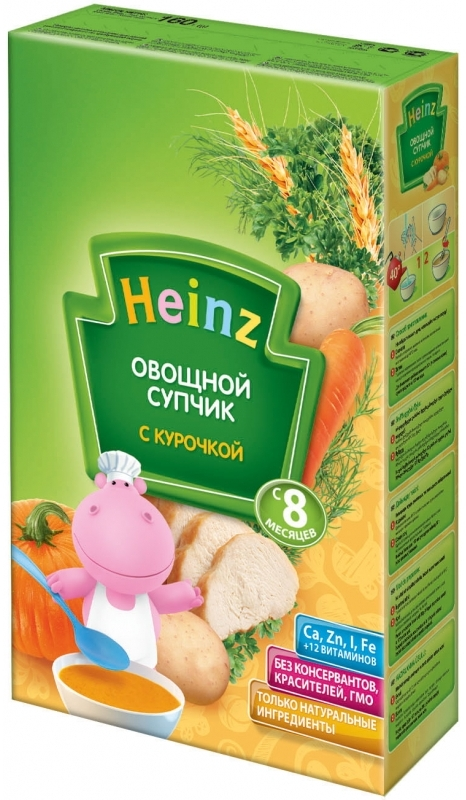 """""""Хайнц"""" детский """"Овощной супчик с курочкой"""" Heinz 160,0"""