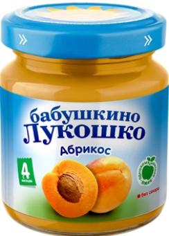 """Пюре """"Абрикос без сахара"""" 100,0 """"Лукошко"""""""