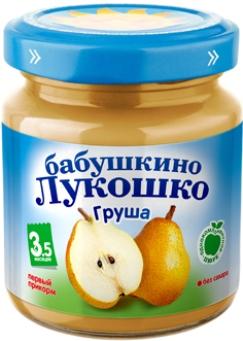 """Пюре """"Груша без сахара"""" 100,0 """"Лукошко"""""""