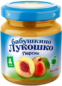 """Пюре """"Персик без сахара"""" 100,0 """"Лукошко"""""""