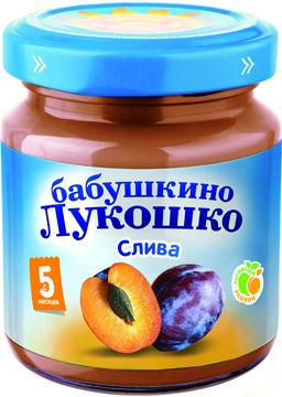 """Пюре """"Слива"""" 100,0 """"Лукошко"""""""