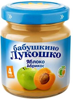 """Пюре """"Яблоко-Абрикос"""" 100,0 """"Лукошко"""""""
