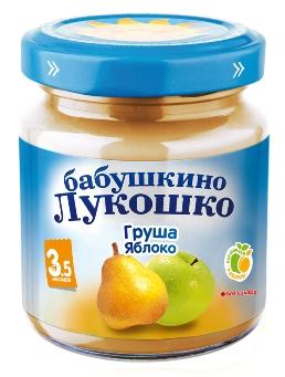 """Пюре """"Груша-Яблоко (без сахара)"""" 100,0 """"Лукошко"""""""