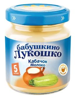 """Пюре """"Кабачок с молоком"""" 100,0 """"Лукошко"""""""