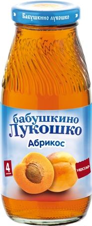 "Нектар ""Абрикос (с мякотью)"" 200 мл ""Лукошко"""