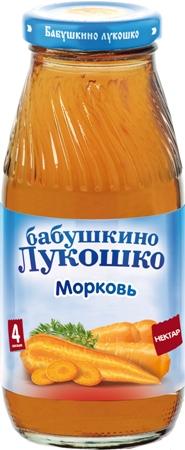"""Нектар """"Морковь (с мякотью)"""" 200 мл """"Лукошко"""""""