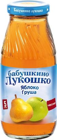 """Нектар """"Яблоко-Груша (с мякотью)"""" 200 мл """"Лукошко"""""""