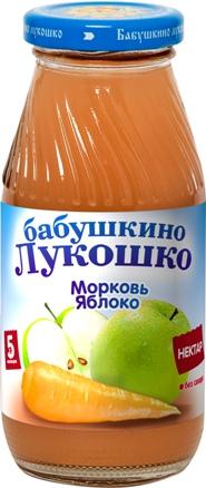 """Нектар """"Морковь-Яблоко (с мякотью)"""" 200 мл """"Лукошко"""""""