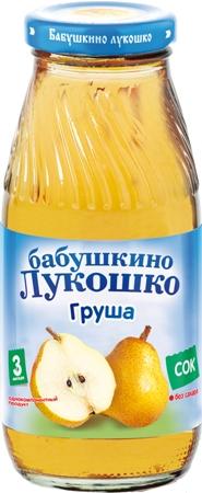 """Сок грушевый (осветленный, без сахара) 200 мл """"Лукошко"""""""