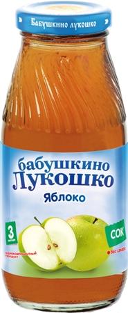 """Сок яблочный (осветленный, без сахара) 200 мл """"Лукошко"""""""