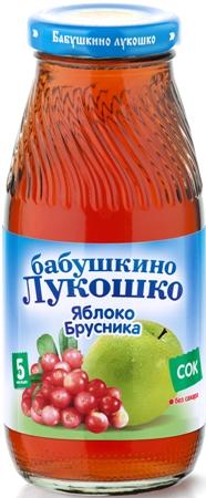 "Сок ""Яблоко-Брусника (осветленный, без сахара)"" 200 мл ""Лукошко"""