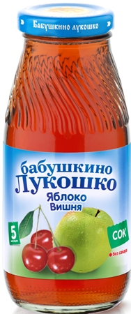 "Сок ""Яблоко-Вишня (осветленный, без сахара)"" 200 мл ""Лукошко"""