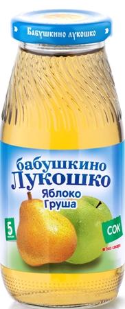 "Сок ""Яблоко-Груша (осветленный, без сахара)"" 200 мл ""Лукошко"""
