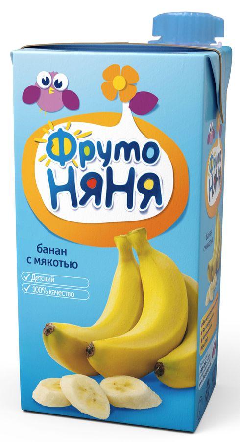 """Нектар банановый (с мякотью) 500 мл """"ФрутоНяня"""""""