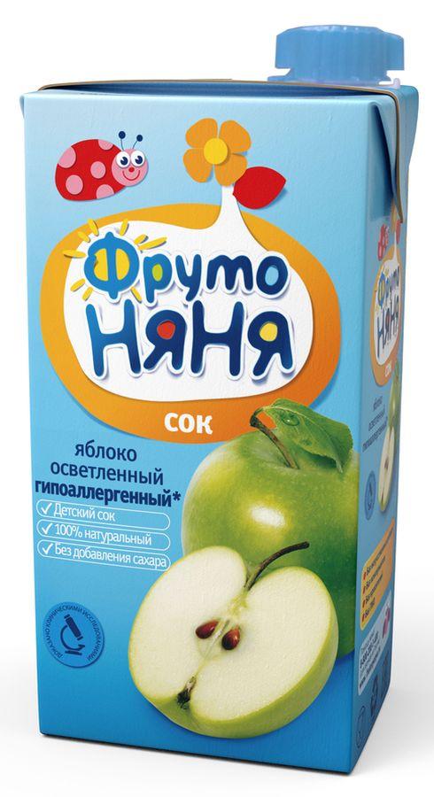 """Сок яблочный осветленный (гипоаллергенный, без сахара) 500 мл """"ФрутоНяня"""""""