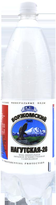 """Вода лечебно-столовая """"Нагутская-26"""" 1,5 л (тип Боржомский)"""