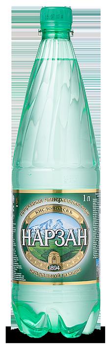 """Вода лечебно-столовая """"Нарзан"""" (природной газации) 1,0 л"""