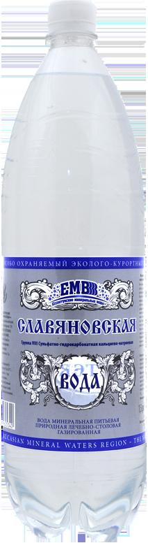 """Вода лечебно-столовая """"Славяновская"""" 1,5 л"""