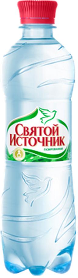 """Вода питьевая столовая """"Святой источник"""" 0,5 л (газ)"""