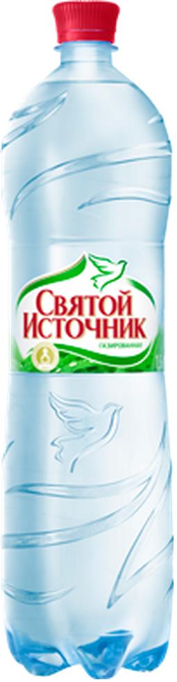 """Вода питьевая столовая """"Святой источник"""" 1,5 л (газ)"""