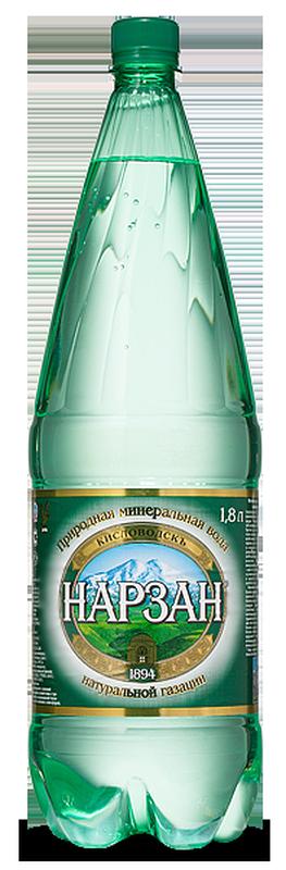 """Вода лечебно-столовая """"Нарзан"""" (природной газации) 1,8 л"""
