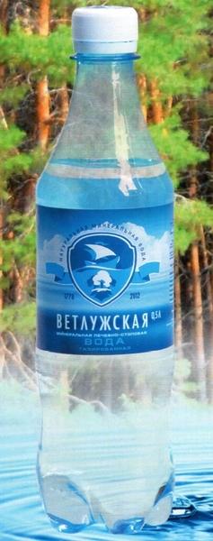 """Вода лечебно-столовая """"Ветлужская"""" 0,5 л (газ)"""