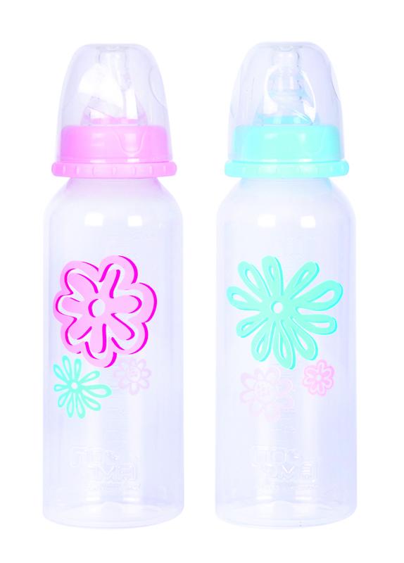 """Бутылочка пластиковая 240 мл с соской силиконовой с быстрым потоком, 02210, """"ПОМА"""""""