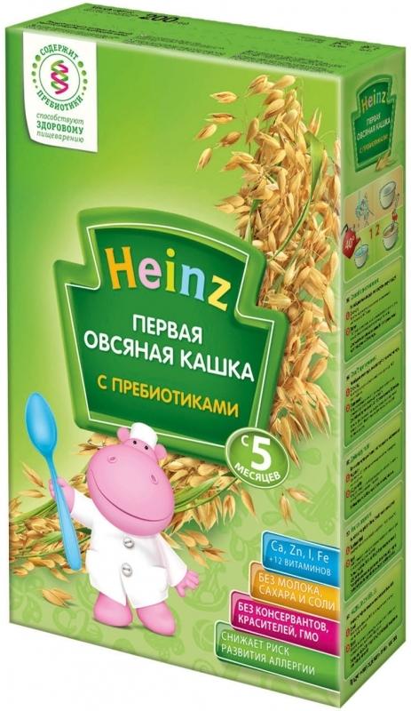 """""""Хайнц"""" каша """"Heinz"""" безмолочная """"Первая овсяная кашка (с пребиотиками)"""" 180,0"""