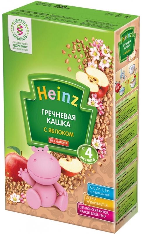 """""""Хайнц"""" каша """"Heinz"""" безмолочная """"Гречневая кашка с яблоком (с пребиотиками)"""" 200,0"""