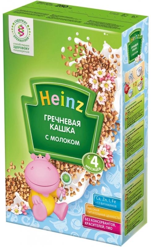 """Хайнц"" каша ""Heinz"" молочная ""Гречневая кашка с молоком (с пребиотиками)"" 250,0"