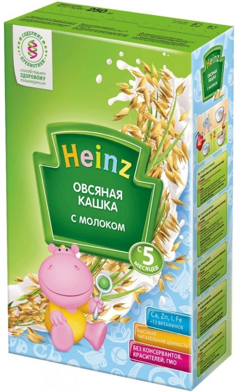"""""""Хайнц"""" каша """"Heinz"""" молочная """"Овсяная кашка с молоком (с пребиотиками)"""" 250,0"""
