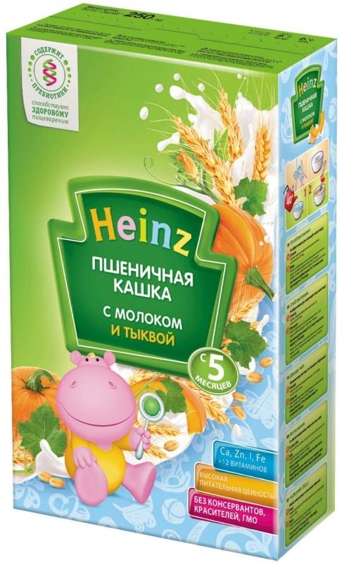 """""""Хайнц"""" каша """"Heinz"""" молочная """"Пшеничная кашка с молоком и тыквой (с пребиотиками)"""" 250,0"""