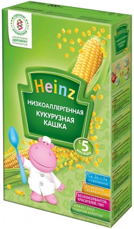"""Хайнц"" каша ""Heinz"" безмолочная ""Низкоаллергенная кукурузная кашка (с пребиотиками)"" 200,0"