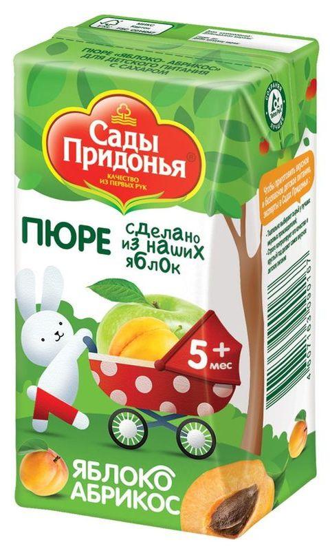 """Пюре """"Яблоко-Абрикос (с сахаром)"""" 125,0 """"Сады Придонья"""""""