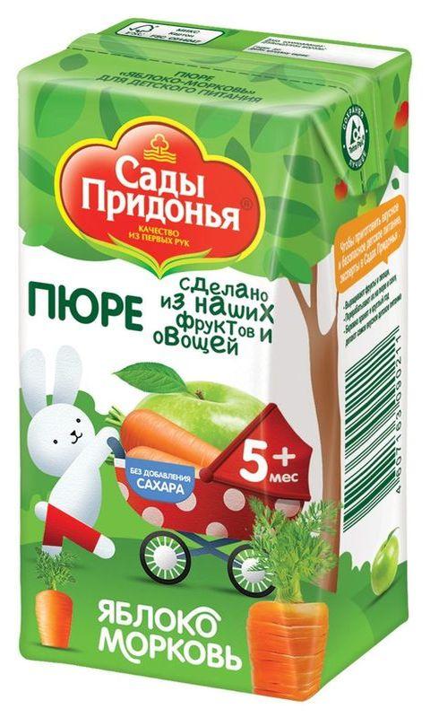 """Пюре """"Яблоко-Морковь (без сахара)"""" 125,0 """"Сады Придонья"""""""