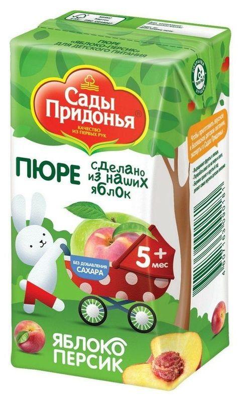 """Пюре """"Яблоко-Персик (без сахара)"""" 125,0 """"Сады Придонья"""""""