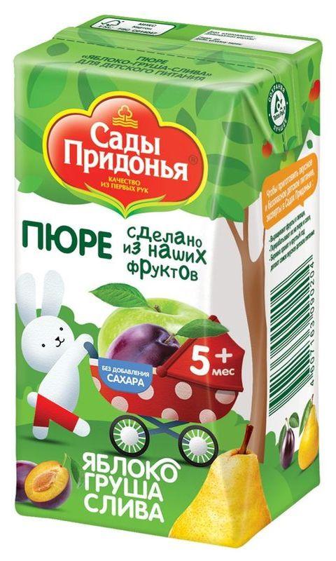 """Пюре """"Яблоко-Груша-Слива (без сахара)"""" 125,0 """"Сады Придонья"""""""
