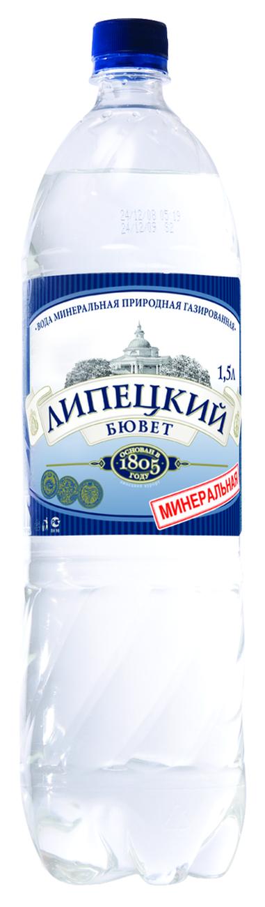 """Вода лечебно-столовая """"Липецкий бювет"""" 1,5 л"""