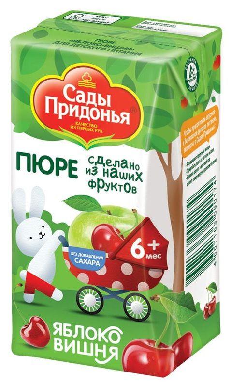 "Пюре ""Яблоко-Вишня (без сахара)"" 125,0 ""Сады Придонья"""