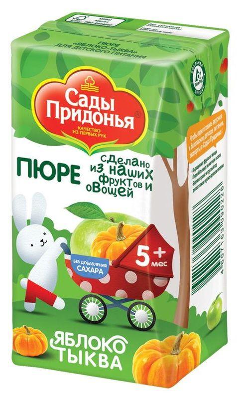 """Пюре """"Яблоко-Тыква (без сахара)"""" 125,0 """"Сады Придонья"""""""