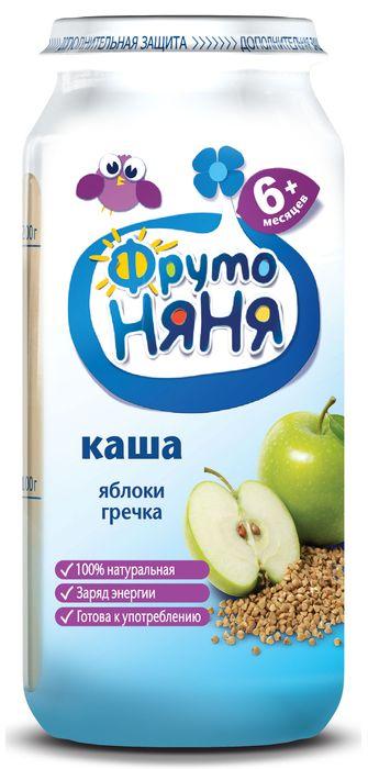 """Пюре """"Каша ЯБЛОКИ ГРЕЧКА (готовая к употреблению, из яблок с гречневой крупой, безмолочная, с фруктозой)"""" 250,0 """"ФрутоНяня"""""""