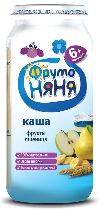 """Пюре """"Каша ФРУКТЫ ПШЕНИЦА (готовая к употреблению, из фруктов с пшеничной крупой, с молоком, с фруктозой)"""" 250,0 """"ФрутоНяня"""""""