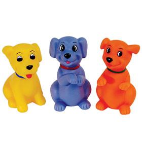 """Набор игрушек для ванны """"Веселые щенки"""" (с пищалкой, 3 штуки), 04219, """"ПОМА"""""""